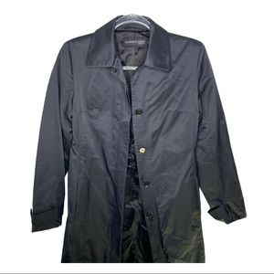 Kenneth Cole Black Sateen Trench